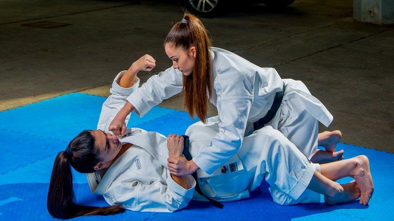 Μια άσκηση με υποτιθέμενο αντίπαλο (Bunkai) με αντίδραση του αμυνόμενου σε επίθεση.