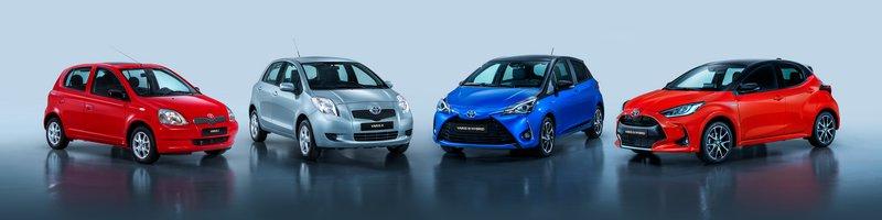 Τέσσερις γενιές Toyota Yaris, 20 χρόνια ιστορίας (COTY 2000) και πάνω από 4 εκατομμύρια πωλήσεις!