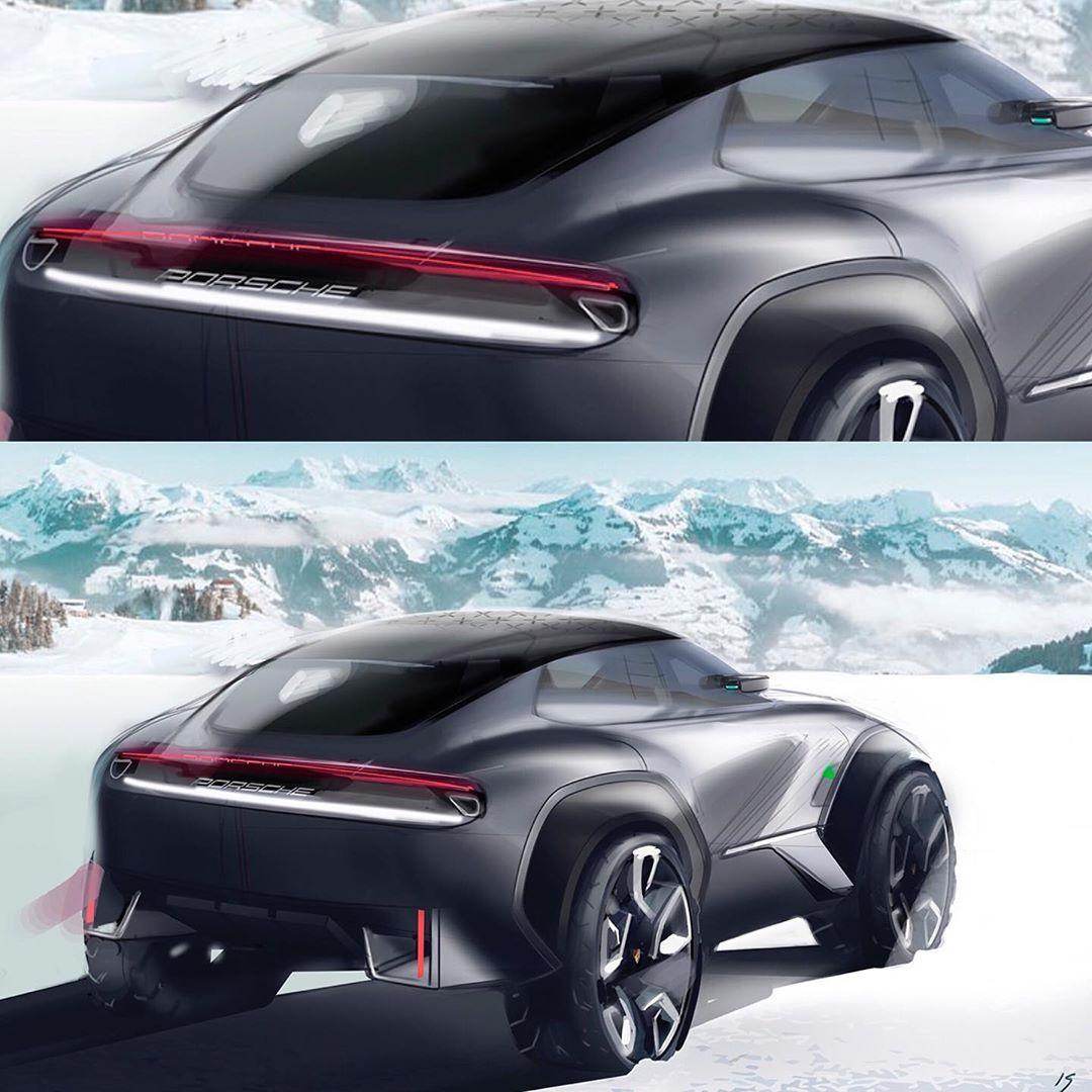 Porsche Crossover Suv: Το ηλεκτροκίνητο SUV της Porsche παίρνει μορφή PORSCHE SUV
