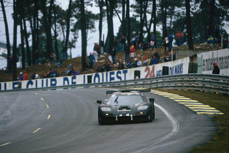 Η F1 GTR με τον αριθμό 59 με την οποία η McLaren κέρδισε τις «24 Ώρες του Le Mans» το 1995.