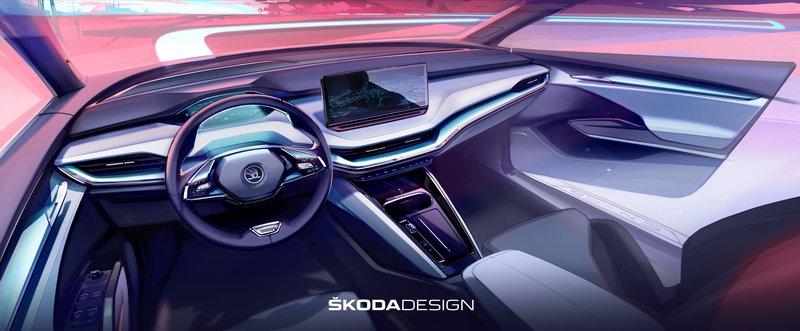 Στο φως το εσωτερικό του ηλεκτροκίνητου Skoda Enyaq
