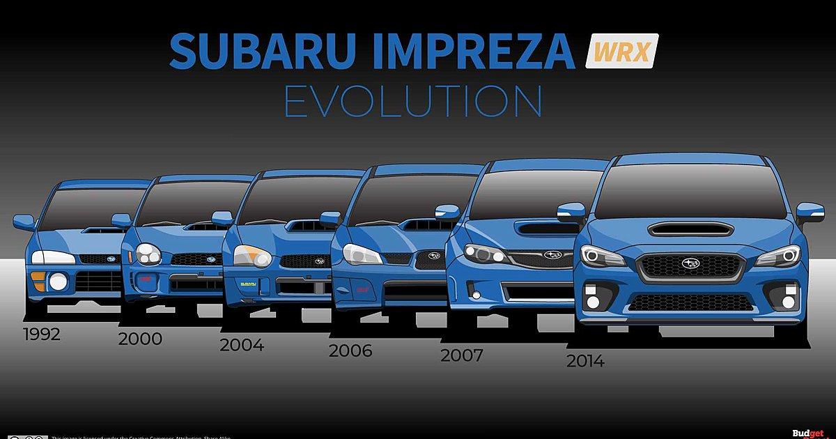 Ο θρύλος του Subaru Impreza WRX μέσα από τις τέσσερις γενιές του