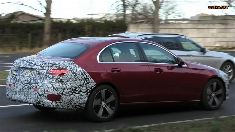2022 mercedes c class spied with production red paint debut is close 2 77761 393909 type15016