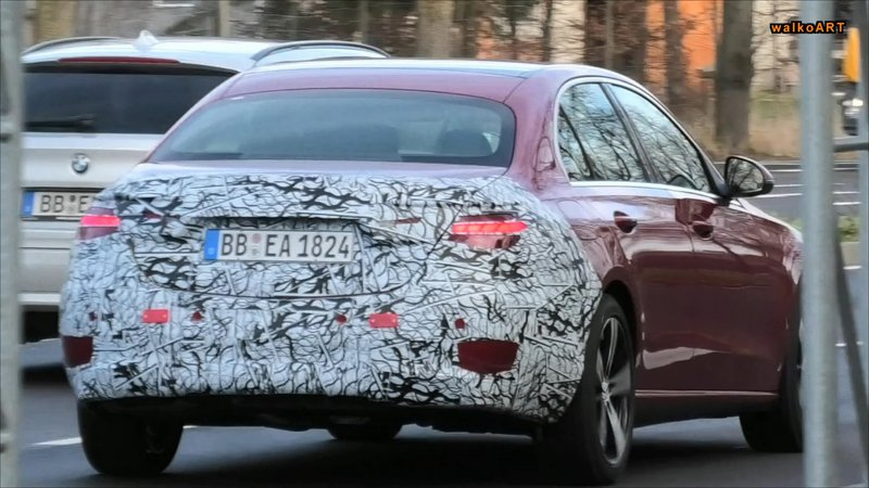 2022 mercedes c class spied with production red paint debut is close 3 77761 393910 type15016