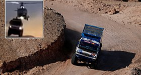 Ελικόπτερο συγκρούεται με… ιπτάμενο φορτηγό στο Ράλι Ντακάρ (Video)