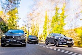 Συγκρίνουμε τα τρία πολυτελή SUV με επιδόσεις sports car!