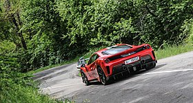 «Θαρραλέος» οδηγός καταστρέφει μια πανάκριβη Ferrari 488 (video)