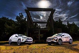 Hyundai Tucson Vs. Toyota RAV4: Ένα light υβριδικό απέναντι σε ένα full hybrid