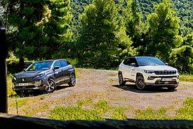 Συγκρίνουμε τα αναβαθμισμένα Jeep Compass 1.6 MTJ 130 και Peugeot 3008 1.5 BlueHDI 130