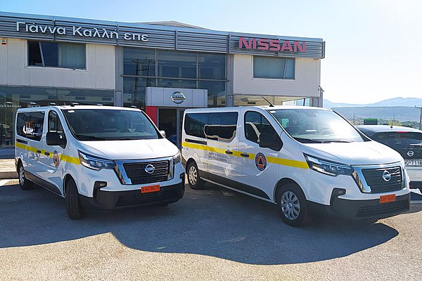 Η Πολιτική Προστασία Ηπείρου ενισχύει τον στόλο των οχημάτων της με Nissan NV300 Combi